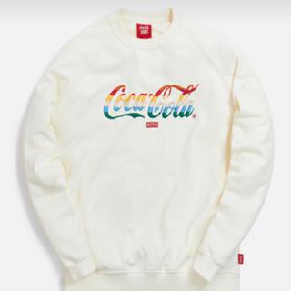 コカコーラ(コカ・コーラ)のキスコカコーラ Kith x Coca-Cola StripedCrewneck(スウェット)