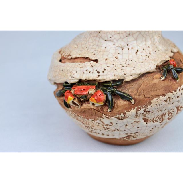 楽山焼 花瓶 インテリア/住まい/日用品のインテリア小物(花瓶)の商品写真