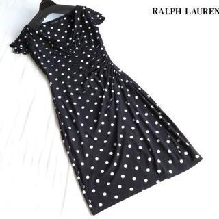 ラルフローレン(Ralph Lauren)の美品 ローレンラルフローレン RALPH LAUREN ミドル丈 ワンピース(ひざ丈ワンピース)