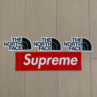 ザノースフェイス(THE NORTH FACE)のシュプリーム & ノースフェイス ステッカー4枚セット(その他)