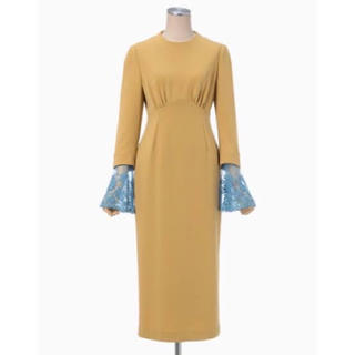 mame - mame 2017ss silk I line dress beige