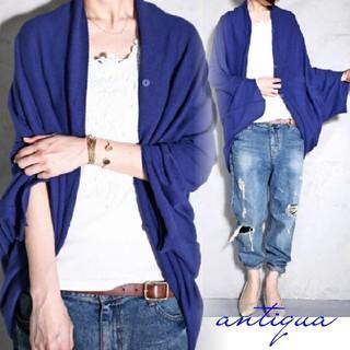 アンティカ(antiqua)のantiqua⭐ドルマンカーディガン完売品(カーディガン)