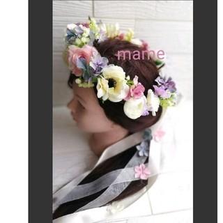 限定1点♡花冠 花かんむり ヘッドドレス  髪飾り(ヘッドドレス/ドレス)