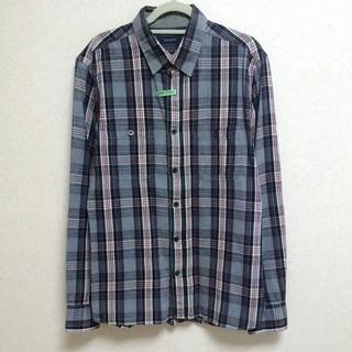 レイジブルー(RAGEBLUE)のレイジブルー ネルシャツ チェック グレー Mサイズ(Tシャツ/カットソー(七分/長袖))