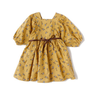 プティマイン(petit main)のb-ROOM☺︎ビールーム ボリューム袖花柄ワンピース(ワンピース)