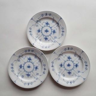 ロイヤルコペンハーゲン(ROYAL COPENHAGEN)のロイヤルコペンハーゲン ブルーフルーテッド プレイン プレート 3枚セット(食器)