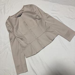 アンタイトル(UNTITLED)のアンタイトル ノーカラー セレモニー ジャケット 2 美品(ノーカラージャケット)