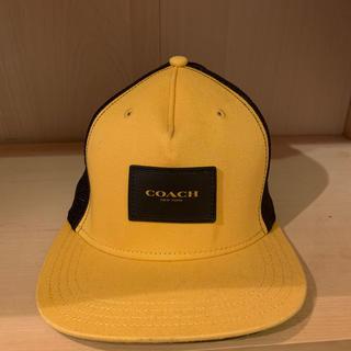 コーチ(COACH)の【COACH】メッシュキャップ フラット ブリム ハット 帽子 〔日本未発売〕(キャップ)