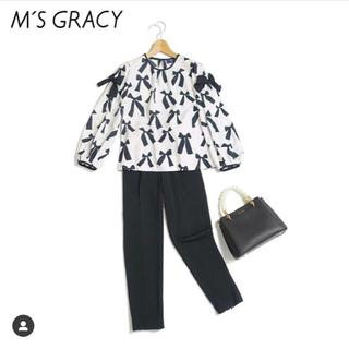 M'S GRACY - エムズグレイシー  ブラウス リボン