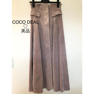 COCO DEAL - 【美品】COCO DEAL♡コーデュロイバックレースアップスカート