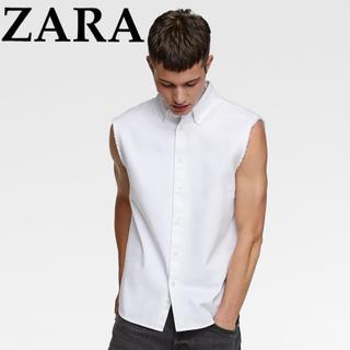 ZARA - 未使用品⭐︎ZARA⭐︎新作現行モデル⭐︎デニム生地ノースリーブ