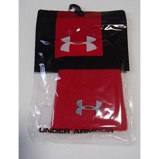 アンダーアーマー(UNDER ARMOUR)の新品 アンダーアーマー ナンバリング リストバンド 1313598 赤 1個売り(トレーニング用品)