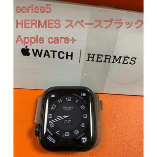 エルメス(Hermes)のApple Watch series5 HERMES 40mm ブラック ケア+(スマートフォン本体)