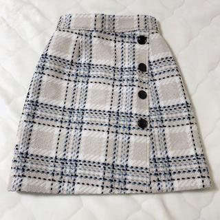 Apuweiser-riche - Apuweiser-riche チェックリバーシブル台形スカート