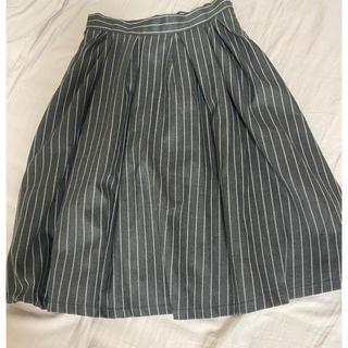 トランテアンソンドゥモード(31 Sons de mode)のストライプスカート(ひざ丈スカート)