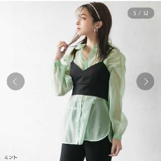 ユメテンボウ(夢展望)のシアーシャツ(シャツ/ブラウス(長袖/七分))