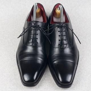 Santoni - Santoni サントーニ ストレートチップ 黒 イタリア製 最高級靴