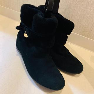 黒 ショートブーツ レディース   ブーツ UGG  ペタンコブーツ 可愛い(ブーツ)