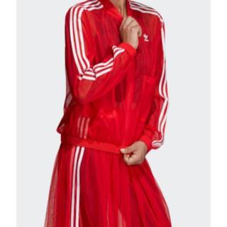 adidas - adidas チュールセットアップ 赤