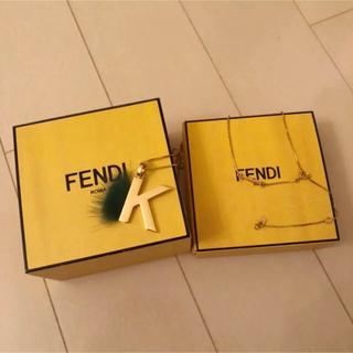 フェンディ(FENDI)のfendi イニシャル ネックレス(ネックレス)