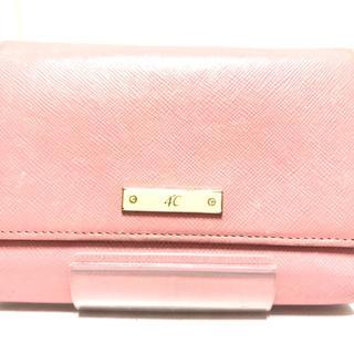 ヨンドシー(4℃)のヨンドシー 3つ折り財布 ピンク レザー(財布)