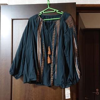 ビームス(BEAMS)の綿ワッシャー刺繍ブラウス(シャツ/ブラウス(長袖/七分))
