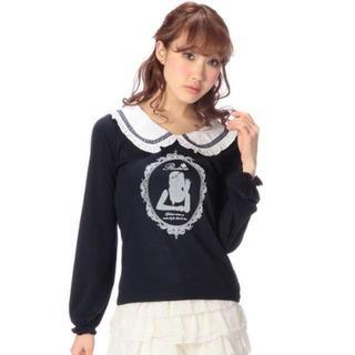 LIZ LISA - LIZ LISA☆新品♪Tralala*配色フリル襟&フロッキープリントトップス