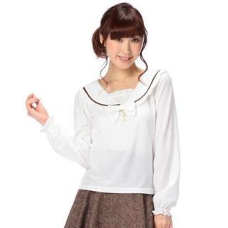 LIZ LISA - LIZ LISA☆新品♪Tralala*セーラー襟&リボン付きフリルトップス