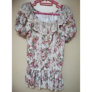 リズリサ(LIZ LISA)のリズリサ花柄レースブラウス(シャツ/ブラウス(半袖/袖なし))