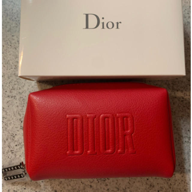 Dior(ディオール)のディオール オリジナル スクエア ポーチ Dior ノベルティ レッド レディースのファッション小物(ポーチ)の商品写真