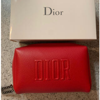 Dior - ディオール オリジナル スクエア ポーチ Dior ノベルティ レッド