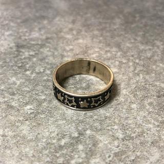 【Design Ring】スターデザイン シルバーリング 925刻印 24号(リング(指輪))
