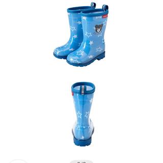 ダブルビー(DOUBLE.B)のミキハウス 長靴 19 ダブルB ブルー(長靴/レインシューズ)