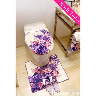 レディー(Rady)のRady  エレガンスフラワー  トイレ3点セット  新品  ホワイト (トイレマット)