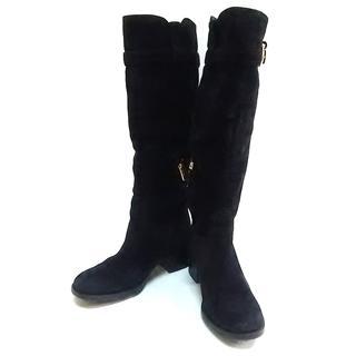 サルヴァトーレフェラガモ(Salvatore Ferragamo)のサルバトーレフェラガモ ロングブーツ 黒(ブーツ)