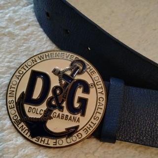 D&G - D&G ネイビーベルト