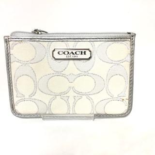 コーチ(COACH)のCOACH(コーチ) カードケース美品  - ラメ(名刺入れ/定期入れ)