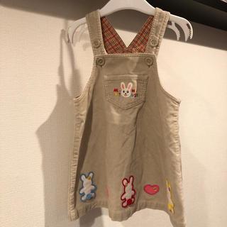 ミキハウス(mikihouse)のミキハウス ジャンパースカート ワンピース レトロ 90(ワンピース)