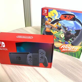 Nintendo Switch - ニンテンドースイッチ新型本体 リングフィットアドベンチャー 美品 ほぼ未使用