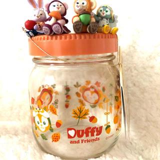 ダッフィー - ディズニーシー限定☆ダッフィー&フレンズ♡2019オータムフィギュア付きガラス瓶