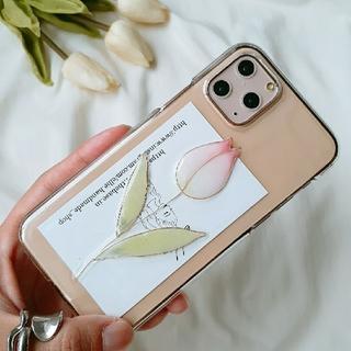 チューリップiPhoneケース ハンドメイド 韓国