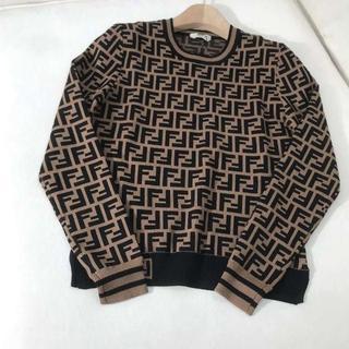 フェンディ(FENDI)の◇FENDI◆アイコニックなFFモチーフ 長袖セーター(ニット/セーター)