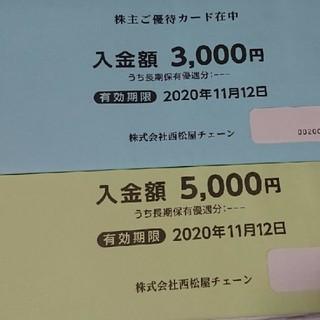 西松屋 - 西松屋 株主優待券 8000円分 送料込み