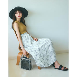GRL - グレイル/GRL/花柄フレアスカート/ホワイト