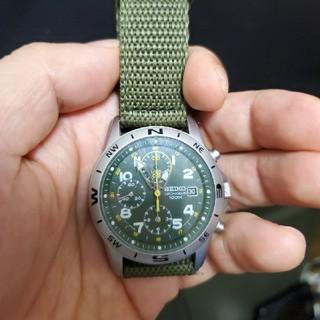 セイコー(SEIKO)のセイコー クロノグラフ アーミーグリーン(腕時計(アナログ))