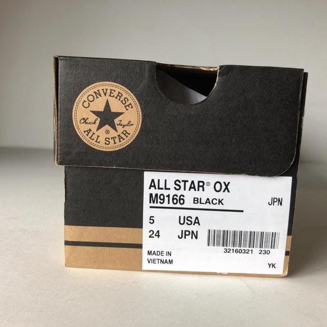 CONVERSE(コンバース)の新品 コンバース オールスター OX  BK ブラック 24.0cm レディースの靴/シューズ(スニーカー)の商品写真