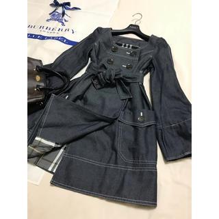 バーバリーブルーレーベル(BURBERRY BLUE LABEL)の美品 バーバリー ブルーレーベル  デニム コート トレンチコート スプリング(トレンチコート)