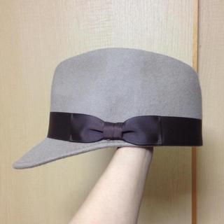 ケービーエフ(KBF)のKBFリボン帽(ハンチング/ベレー帽)