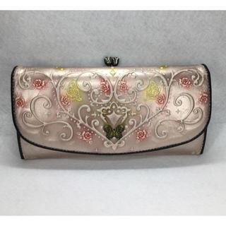 アナスイ(ANNA SUI)のANNA SUI長財布、ピンク、蝶とつるバラ(財布)