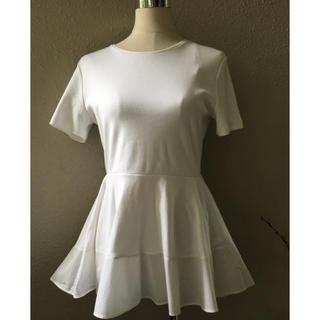エンフォルド(ENFOLD)のcos新品ぺプラムTシャツ(Tシャツ(半袖/袖なし))